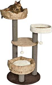 MidWest Sturdy & Fashionable Cat Tree Stylish Cat Tree Features a Removable Cat Bed & Sisal Fabric Cat Scratching Posts for Easy Cleaning 1-Year Manufacturer's Warranty