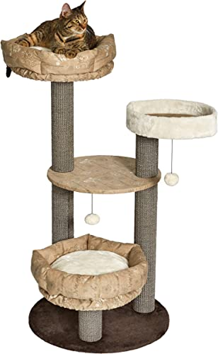 MidWest Sturdy Fashionable Cat Tree Stylish Cat Tree Features a Removable Cat Bed Sisal Fabric Cat Scratching Posts for Easy Cleaning 1-Year Manufacturer s Warranty