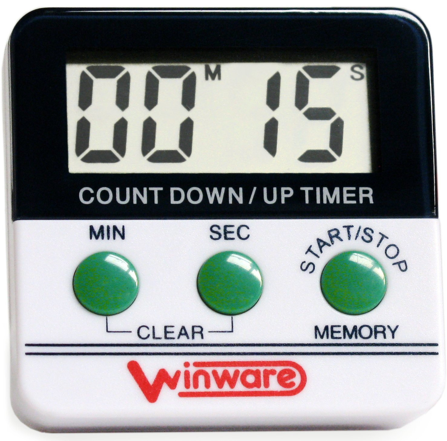 Kitchen Countdown Timer - Hours & minutes - large display and loud ...