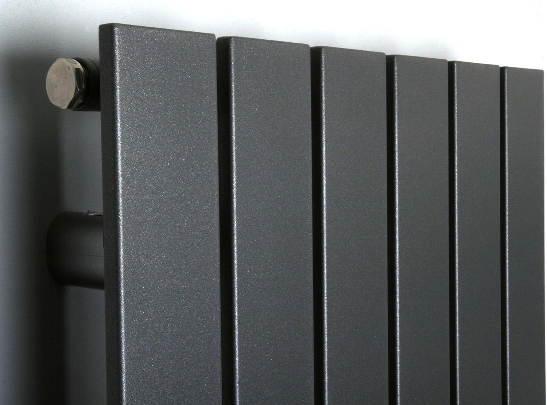 Mittelanschluss Edelstahloptik Badheizk/örper Design Peking 2 799 Watt HxB: 120 x 47 cm Made in Germany//Bad und Wohnraum-Heizk/örper Marke: Szagato