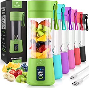 Zulay Portable Blender For Shakes And Smoothies - USB Rechargeable Portable Smoothie Blender Small For Travel - 13oz Capacity Personal Mini Blender Portable - Green