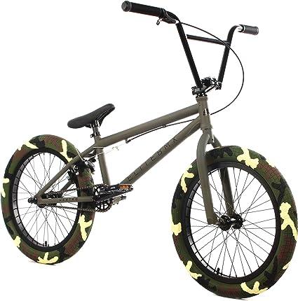 "Elite BMX 20/"" Bike Destro Freestyle Raw Blue NEW 2019 3-Piece Cr-Mo Crank X"