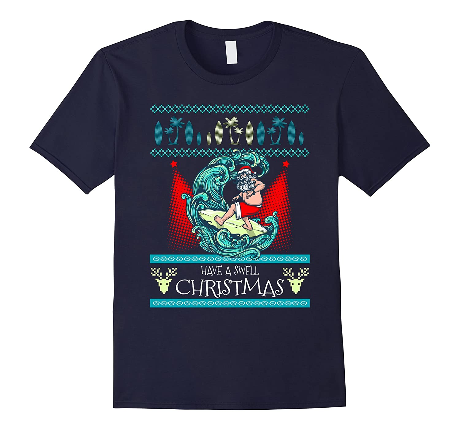 Surfing Ugly Christmas Sweater - Santa Surfboard-ANZ