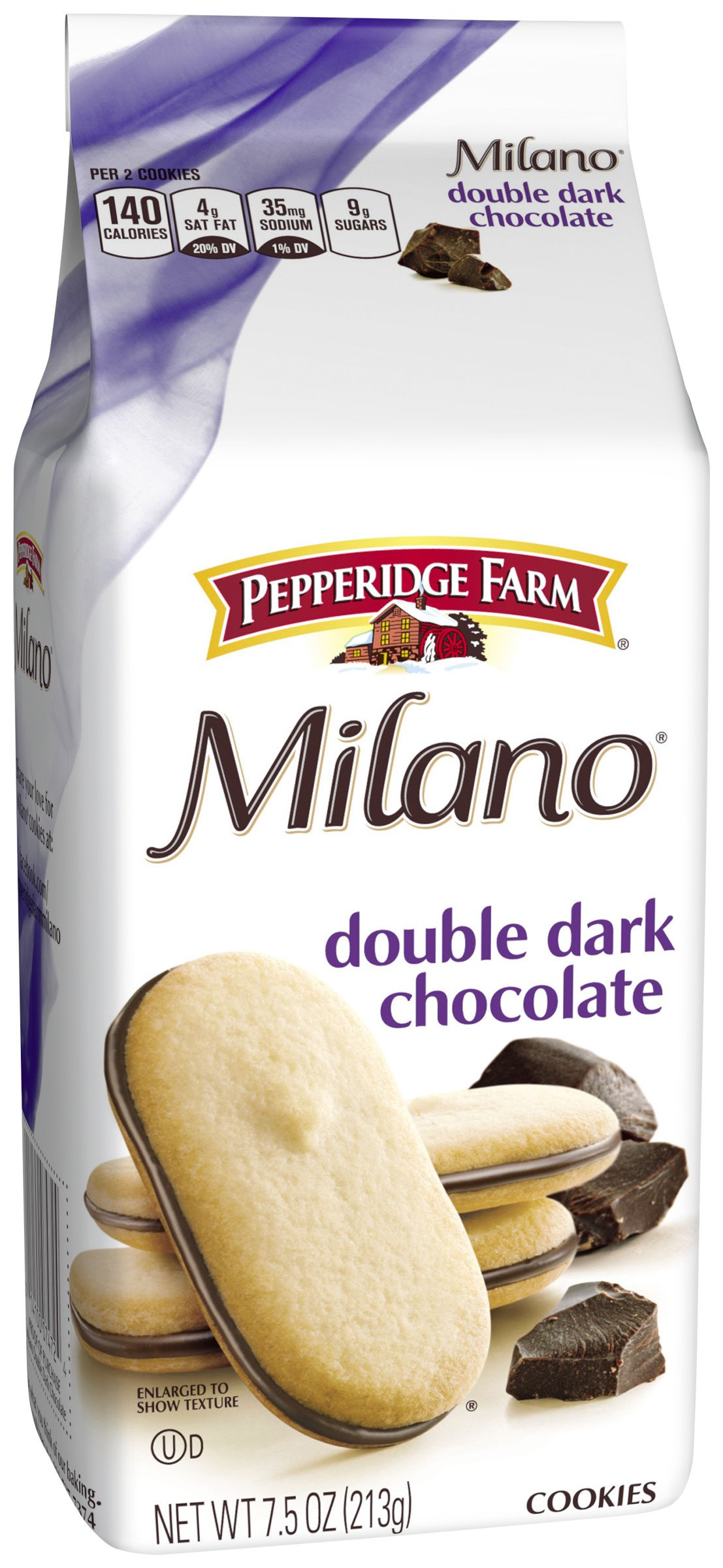 Pepperidge Farm, Milano, Cookies, Double Dark Chocolate, 7.5 oz., Bag