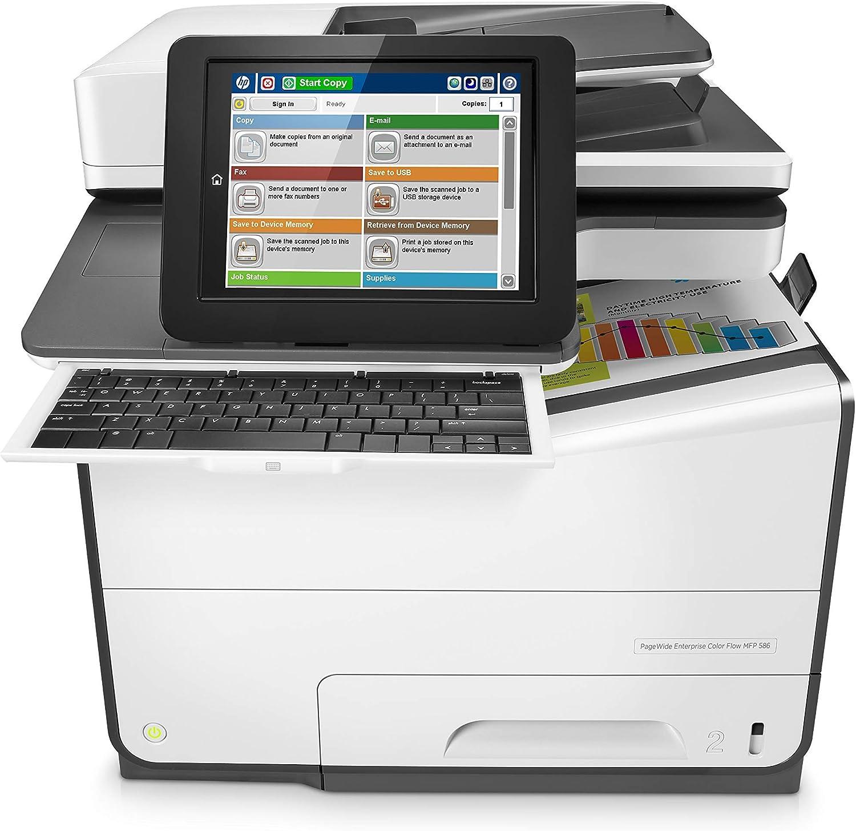 "HP G1W41A#BGJ PageWide Enterprise Color Flow MFP 586Z 8"" (Renewed)"
