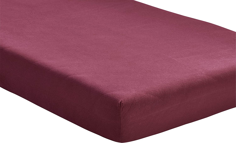 Diverses tailles et couleurs disponibles Drap Jersey 100//% coton 90-100x200 cm bordeaux STANDARD /ÖKO-TEX Drap-housse hauteur de bonnet jusqu/à 25/cm