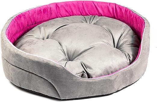 Boutique Zoo – Elegante cama para perros gris/rosa, alcantara/cama para perros para pequeñas/medianas/Perros Grandes | sofá, perros – Cojín para perros | XS, S, M, L, XL, XXL, XXXL: Amazon.es: Productos para