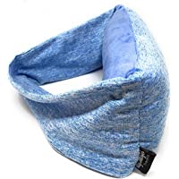 Travel Pillow with Integrated Eye Mask - Compact and Lightweight - Perfect for Long or Short Flights to/from Australia - Essential for The Aussie Traveller