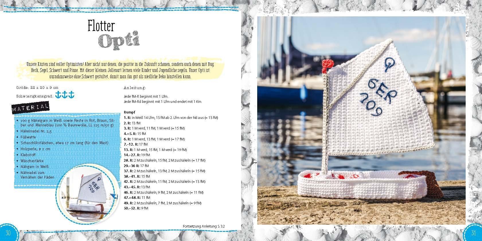 Das Küstenhäkelbuch Von Leuchtturm Bis Fischbrötchen Amazonde