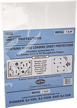 Amazon Com Pioneer Scrapbook Sheet Protectors Pack Of 10 Office Products