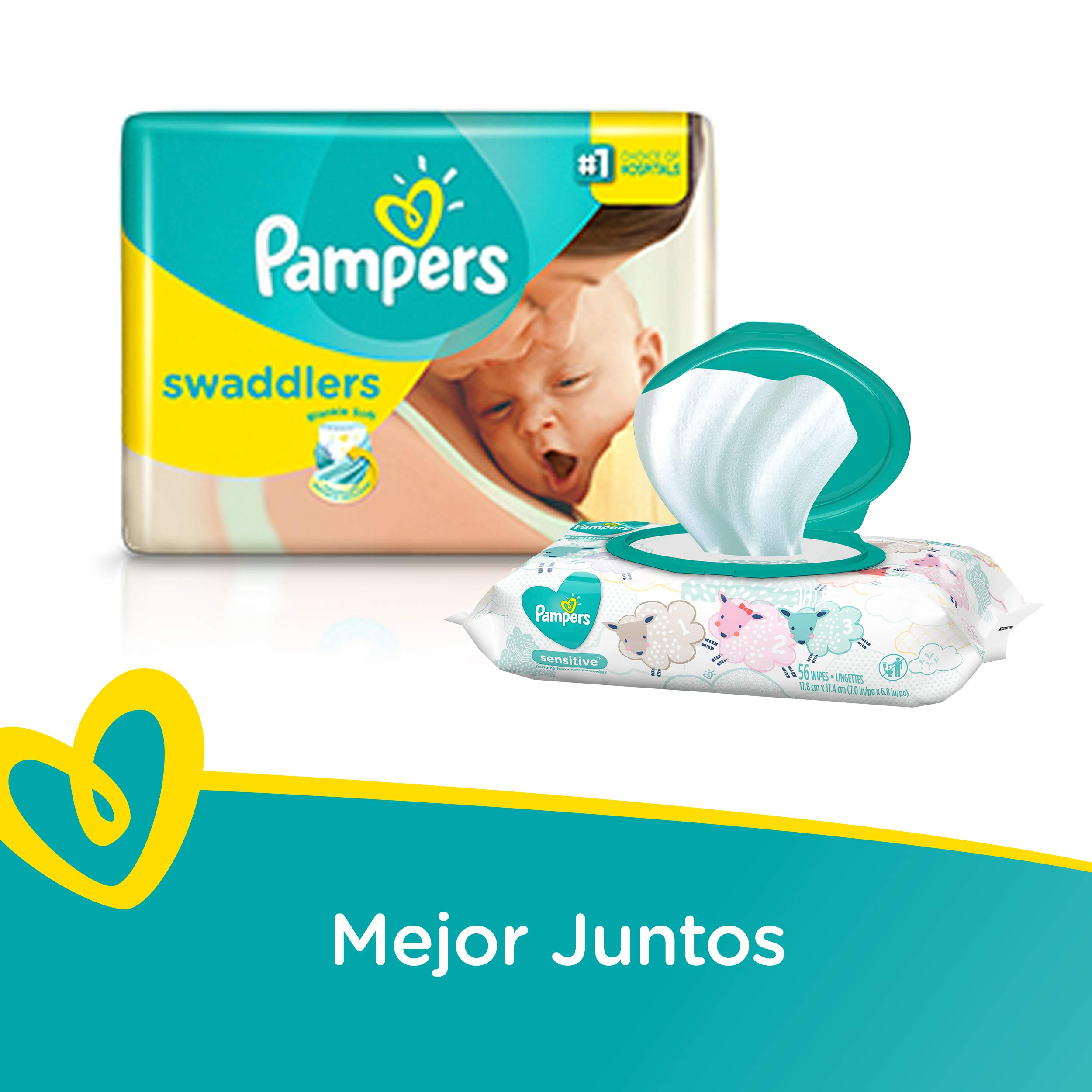 Pampers Swaddlers Diapers Size N 20 Count Pack of 2 (Total of 40 Pampers) by Pampers