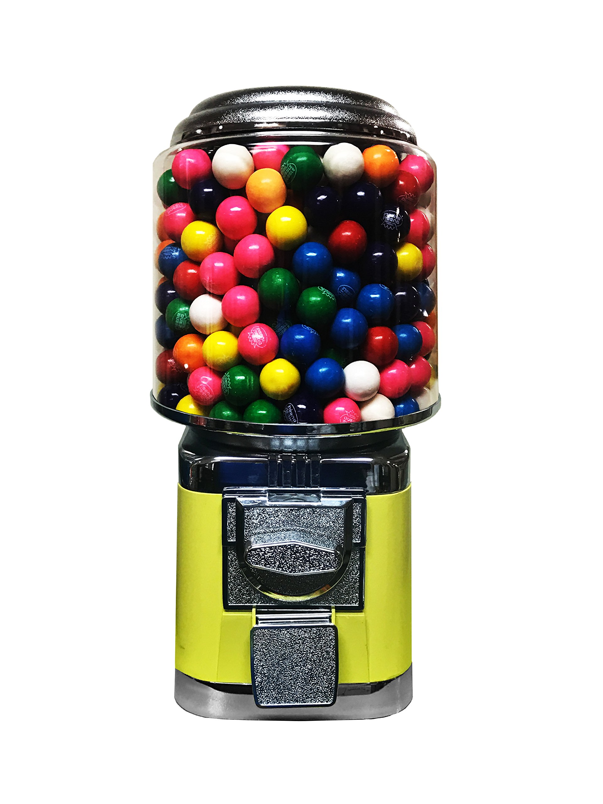 Wholesale Vending Products All Metal Bulk Vending Gumball Machine (Yellow)