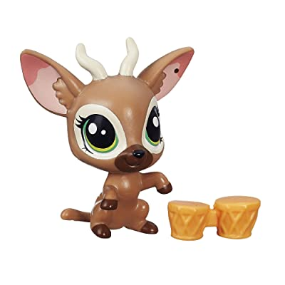 Littlest Pet Shop Get The Pets Single Pack Bongo Brill Doll: Toys & Games