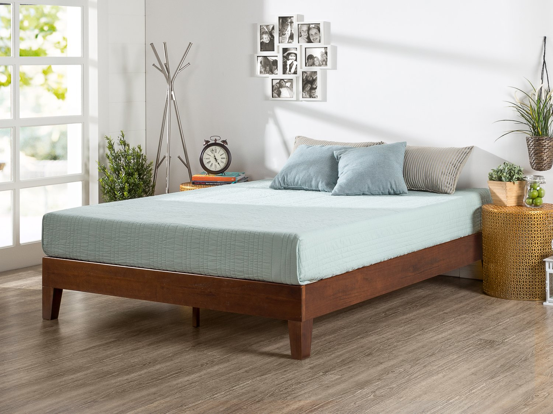 Zinus Marissa 12 Inch Deluxe Wood Platform Bed / No Box Spring Needed / Wood Slat Support / Antique Espresso Finish, Queen by Zinus