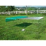 "Bunny Business Rabbit / Guinea Enclosure with Roof Galvanised and Free Sunshade 57"" Medium"