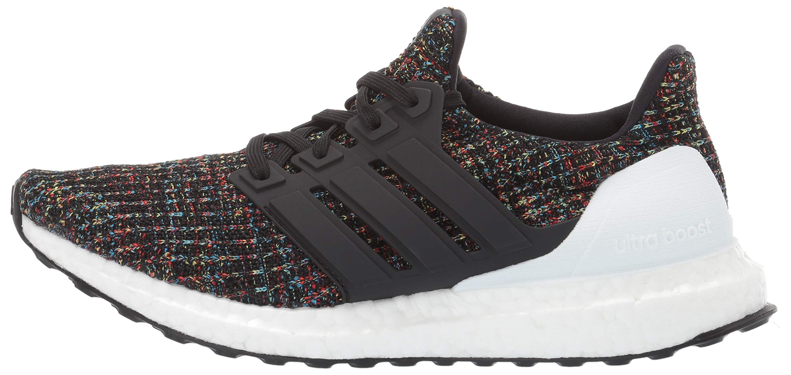 adidas Unisex Ultraboost, Black/White/Active red, 4 M US Big Kid by adidas (Image #5)