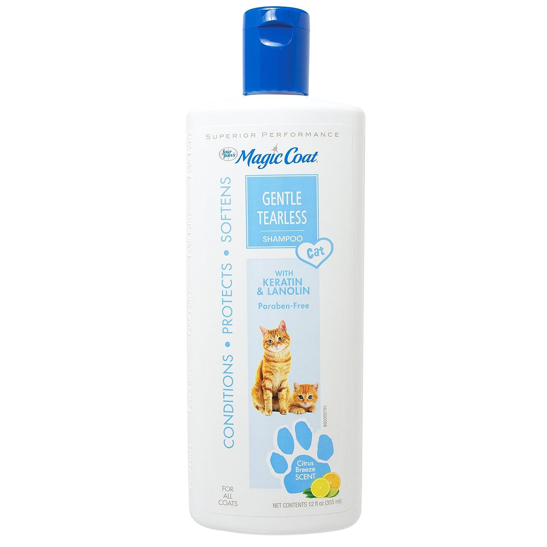 Amazon.com : Four Paws Magic Coat Cat Tearless Shampoo, 12-Ounce ...
