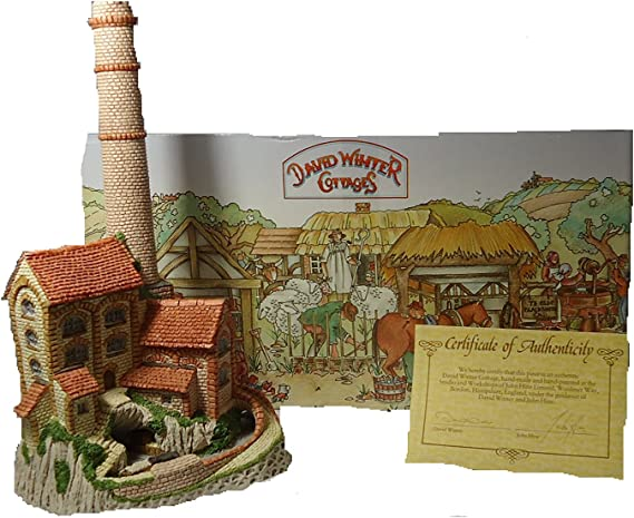 MINT Vintage 1987 David Winter Cottage Midland Collection \u2013 Derbyshire Mill with COA and Box