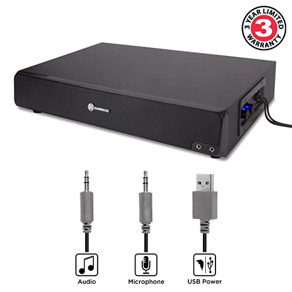 Amazon.com: GOgroove 2.1 USB Powered Computer Speaker & Monitor Stand - SonaVERSE BSE Sound Base 3