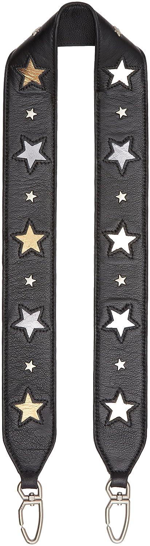 Liebeskind Berlin Damen Gardner Stravm Handtaschenhalter, Schwarz (Oil Black Grey Warm Beige), 1 x 5 x 96 cm