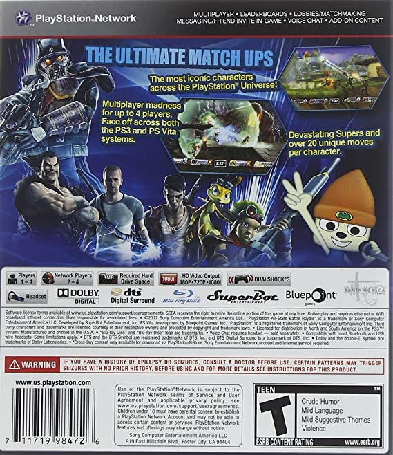 Sony Playstation All Stars Battle Royale Amazoncouk Toys Games