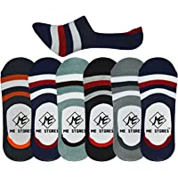 ME Stores Men's Anti Skit Loafer Socks (Multicolor, Large) -Pack of 6