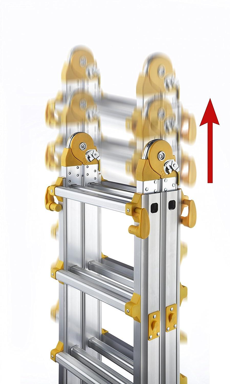 Multifunktionsleiter Teleskopleiter Aluleiter Klappleiter 4x5 Sprossen