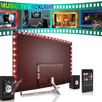 Vilsom Usb Powered Led Bias Beleuchtung   Amazon Com Forest Leuchten Led Strip Lights 2m For 40 60in Tv Usb