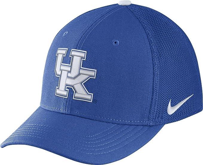 d77508e386f26 Amazon.com   Nike Men s Kentucky Wildcats Blue Aerobill Swoosh Flex  Classic99 Hat (Medium Large)   Sports   Outdoors