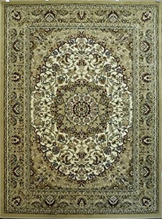 Traditional Area Rug Design Bellagio 401 Beige (8 Feet X 10 Feet 8 Inch)