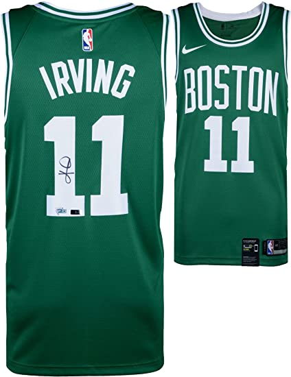 save off 4ba10 ad473 Kyrie Irving Boston Celtics Autographed Green Nike Swingman Jersey - Panini  Authentic - Fanatics Authentic Certified