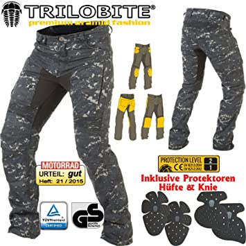 Trilobite PARADO Motorrad-Jeans Herren blau lang