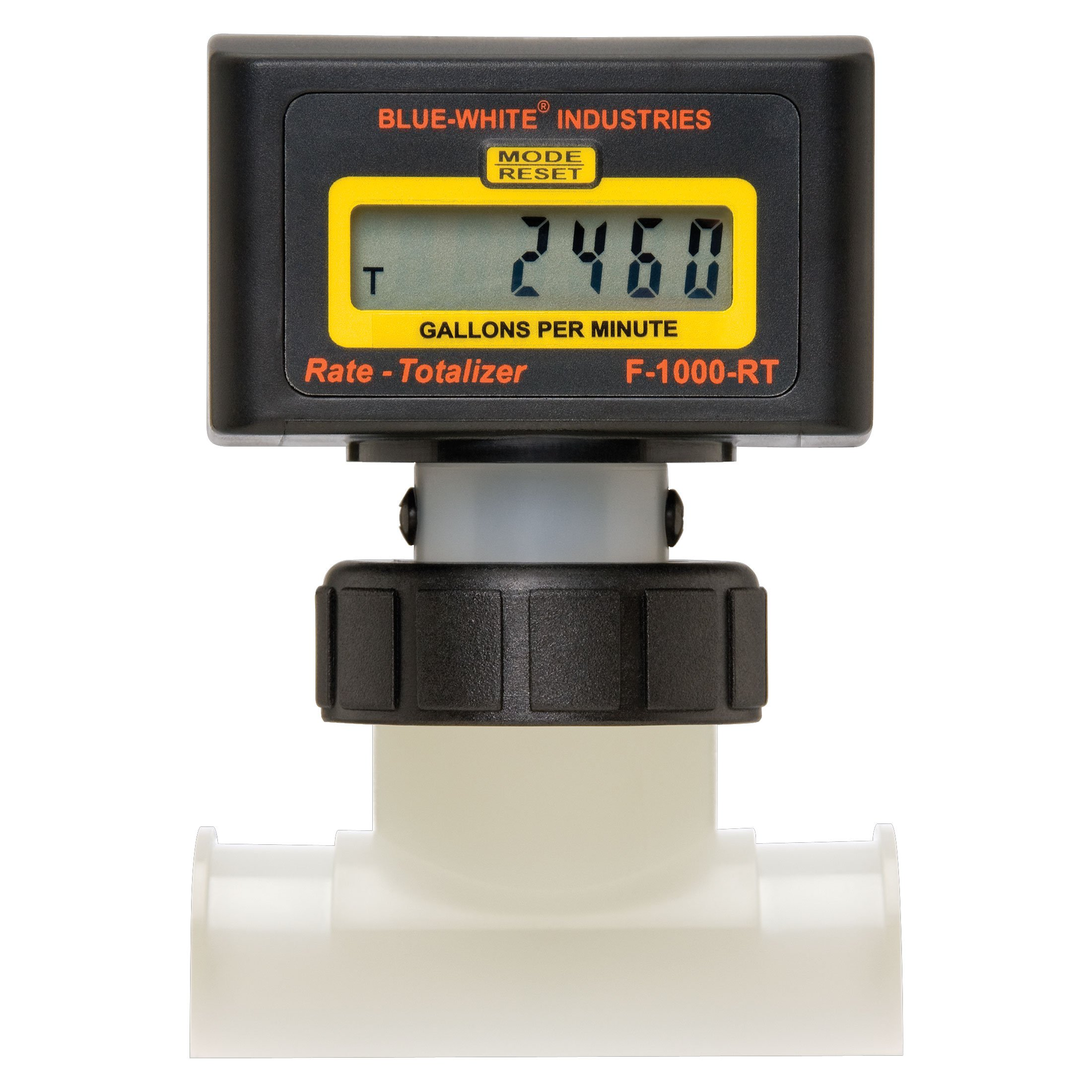 Blue White Industries 1.5 Inch Electronic Digital Pool Flow Meter - 15-150 gallons per Minute