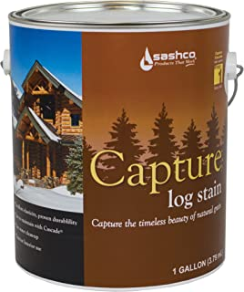 product image for Sashco Cap-P-N Natural Cap-P Capture Log Stain, 1 gal Can