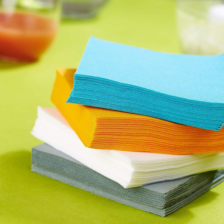 Serviettes Papier Tex Touch Serviettes Certifi/ées FSC/® Lot de 50 Serviettes de Table Couleur Jaune Canari Format 24 x 24 cm Recyclables et Biod/égradables Le Nappage Couleur Jaune Canari