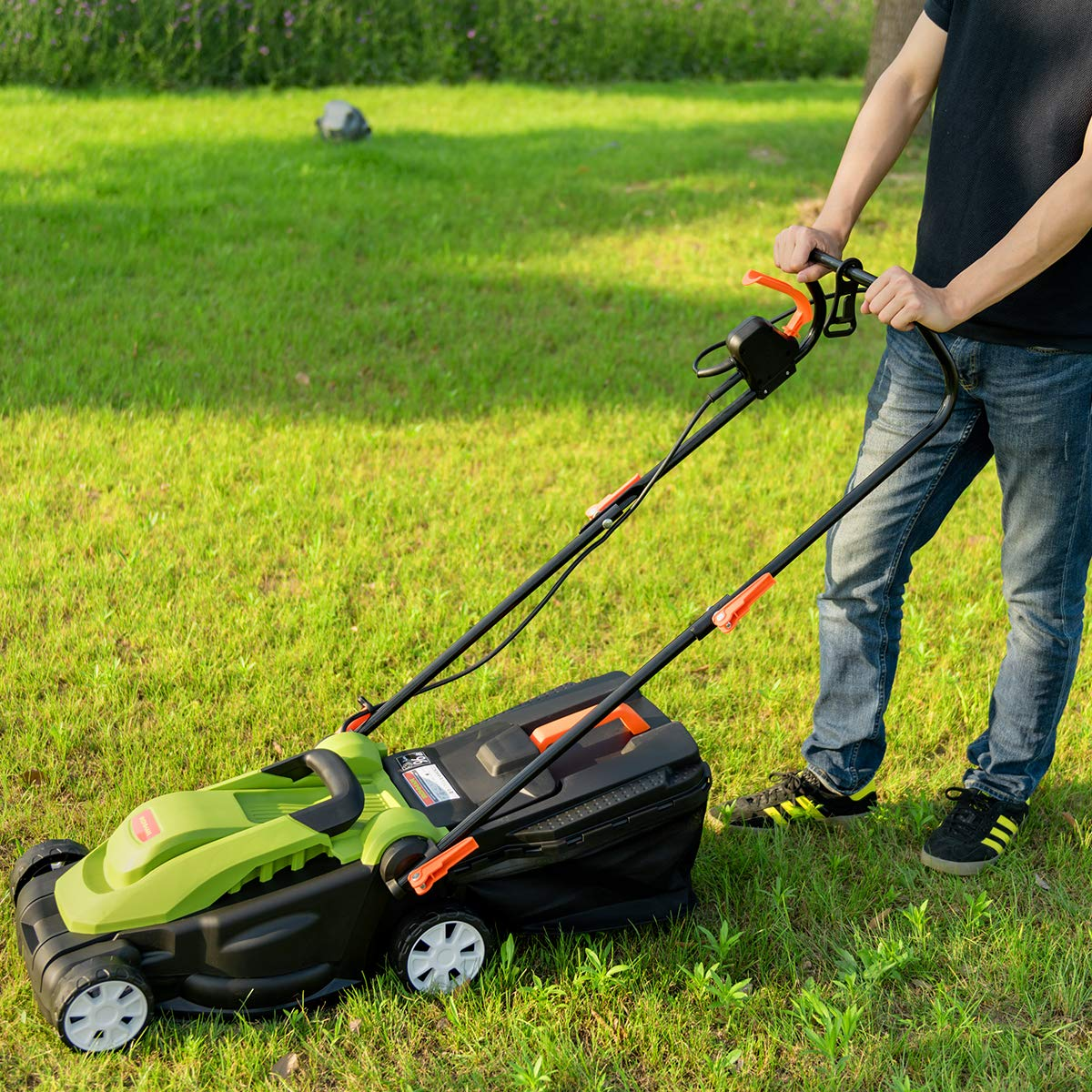 Goplus Electric Lawn Mower w/Folding Handle and Detachable ...