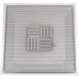 Speedi-Grille TB-PAB 08 24-Inch x 24-Inch White Drop Ceiling T-Bar Perforated Face Air Vent Register with 8-Inch Collar