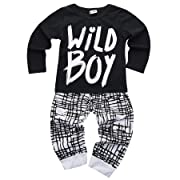 Baby Boys Clothes Set Wild Boy Short Sleeve T-Shirt Tops and Pants Outfits Spring Summer