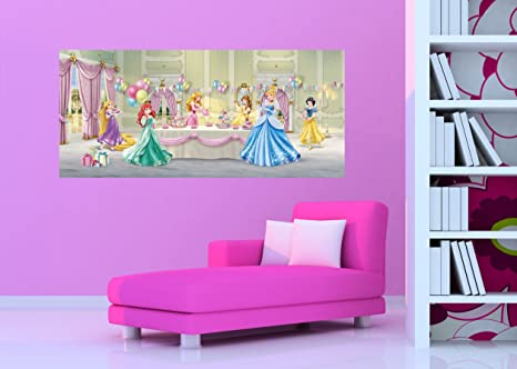 Amazon Com Disney Princesses Party Panorama Papier Peint