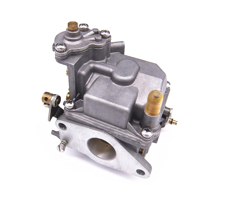 amazon com: boat motor 66m-14301-12-00 carburetor assy for yamaha 4-stroke  15hp f15 electric start outboard engine: automotive