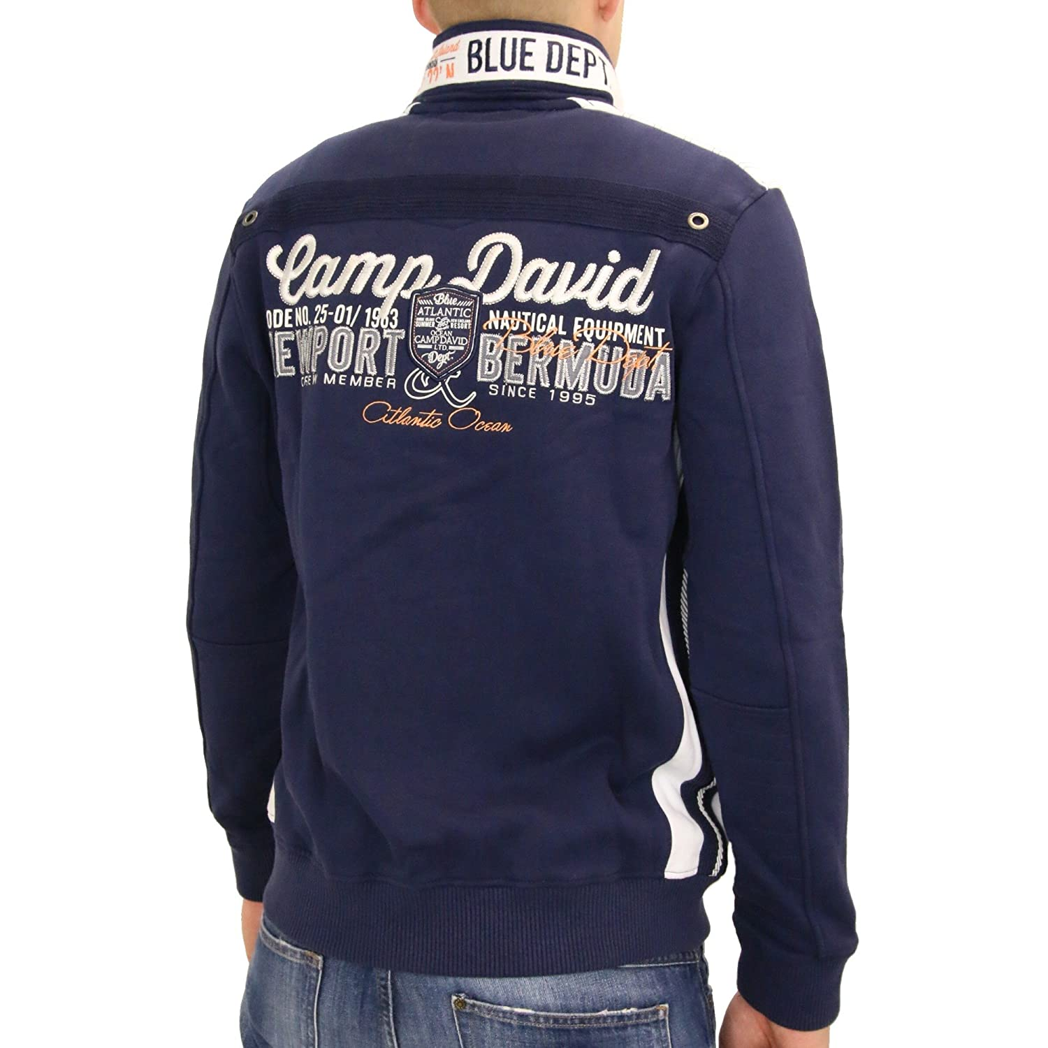 preview of for whole family high quality Camp David Men's Sweat Jacket Blau (Washed Blue) Size:M/L ...