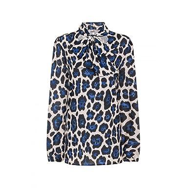6a17fa7c19c1 Little Mistress Womens/Ladies Leopard Print Blouse (8 UK) (Blue Leopard)