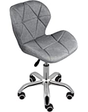 Charles Jacobs Dining/Office Swivel Chair with Chrome Legs with Wheels and Lift - Choice of Colours