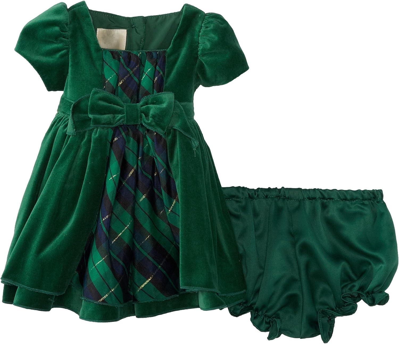 Amazon.com: Laura Ashley London Baby-Girls Newborn Velvet Dress