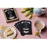 Mummy Milestone Cards - An Alternative to Baby Milestone Cards - Chalkboard Floral