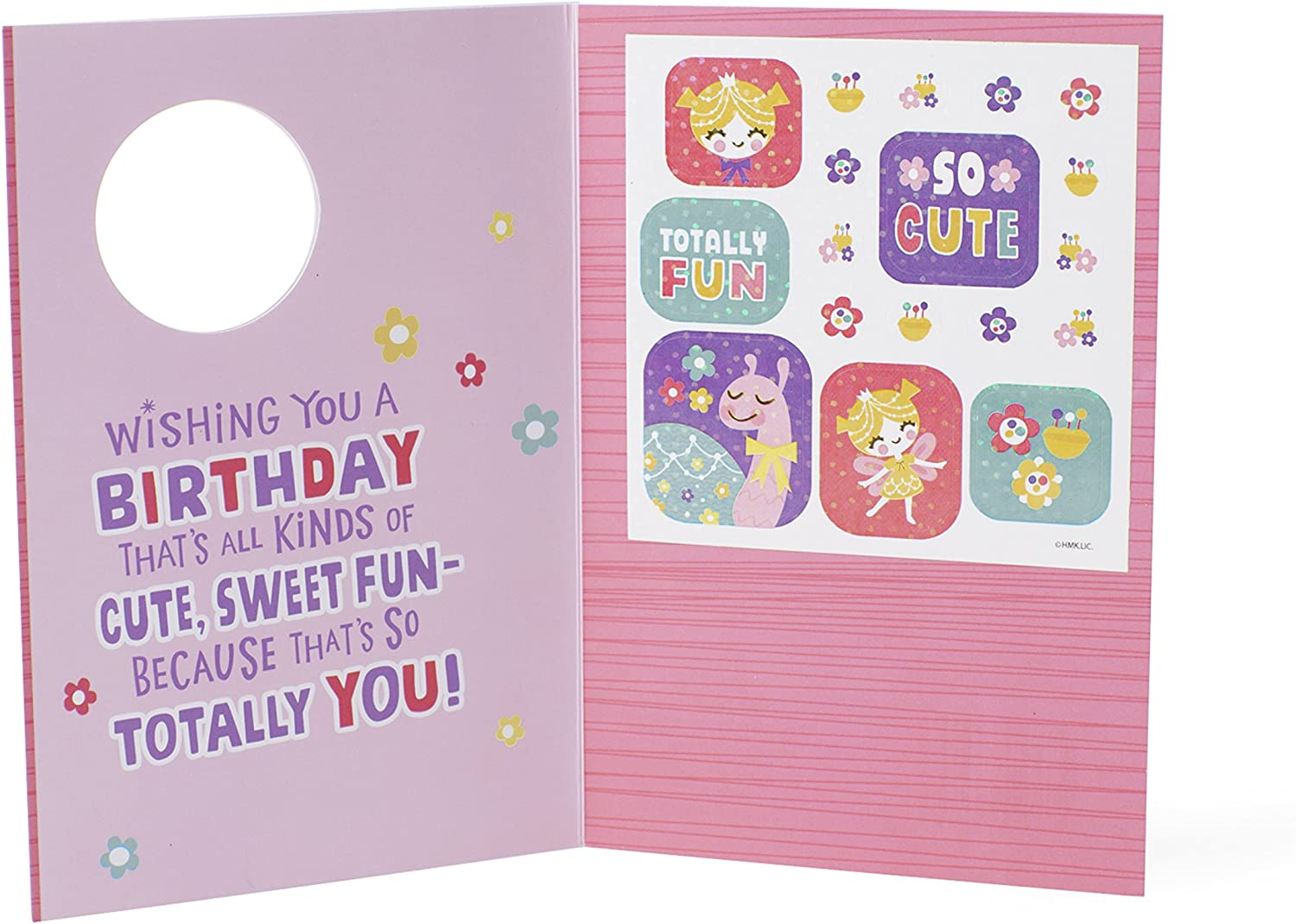 Hallmark Birthday Card for Kids Fairy and Snail with Stickers