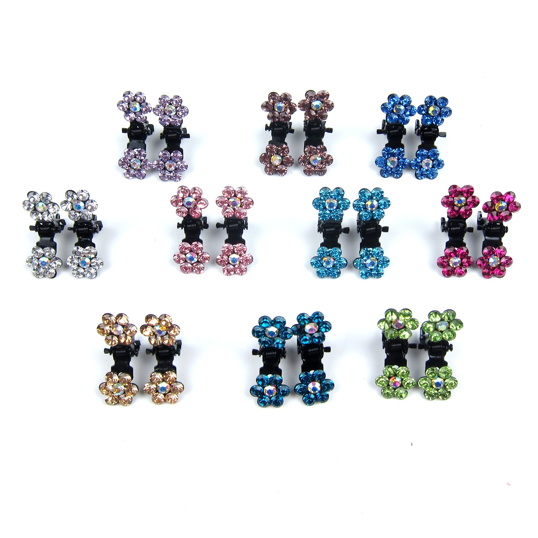 Alfie Pet by Petoga Couture - Dasie Rhinestone Flower Hair Clip 20-Piece Set for Dogs, Cats and Small Animals by Alfie (Image #3)
