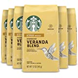 Starbucks Blonde Roast Ground Coffee — Veranda Blend — 100% Arabica — 6 bags (12 oz. each)
