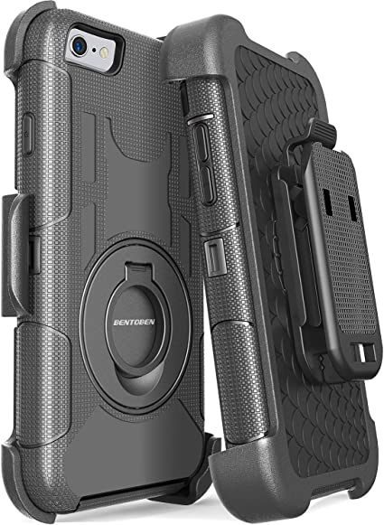 iPhone 6 Case 6s Defender Case with Belt Clip Heavy... Holster Kickstand