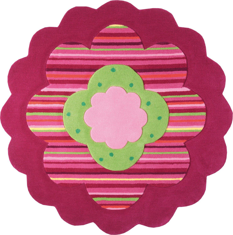 ESPRIT Flower Shape rot pink Kinderteppich 100cm ESP-2840-06